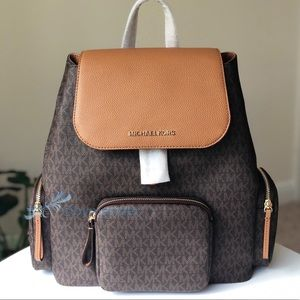 NWT Michael Kors ABBEY Large Cargo Backpack